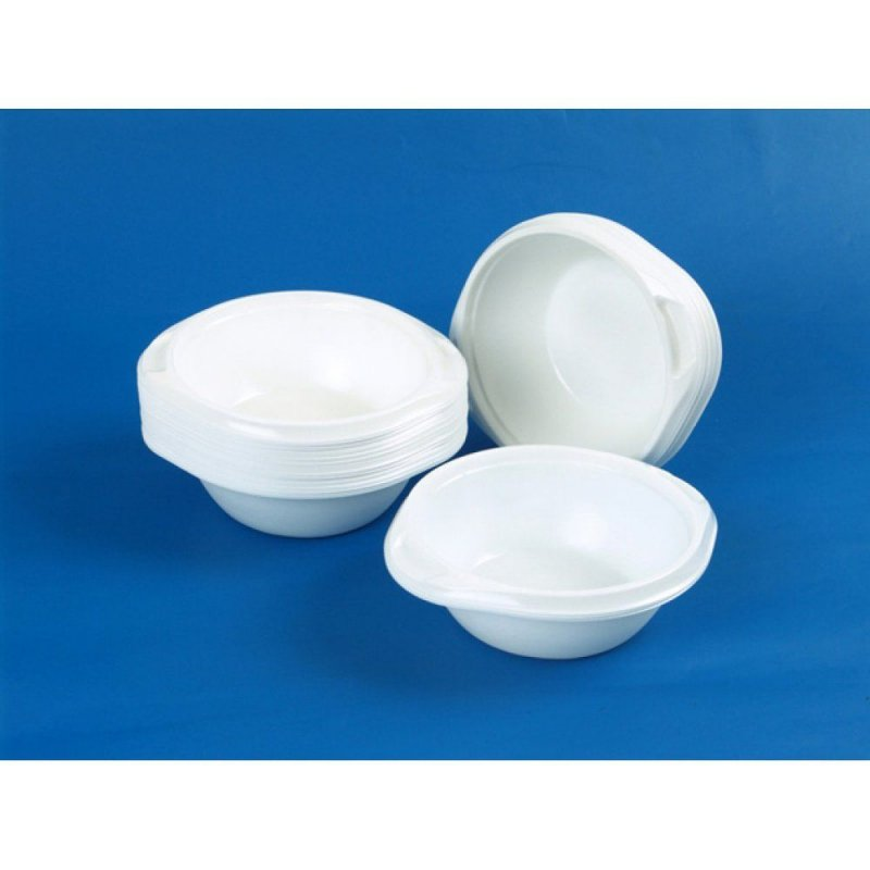 Тарелка одноразовая суповая 500мл белая 50шт/уп