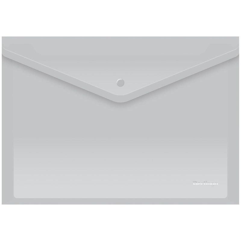 Папка-конверт с кнопкой А4 Berlingo 0,18мм матовая