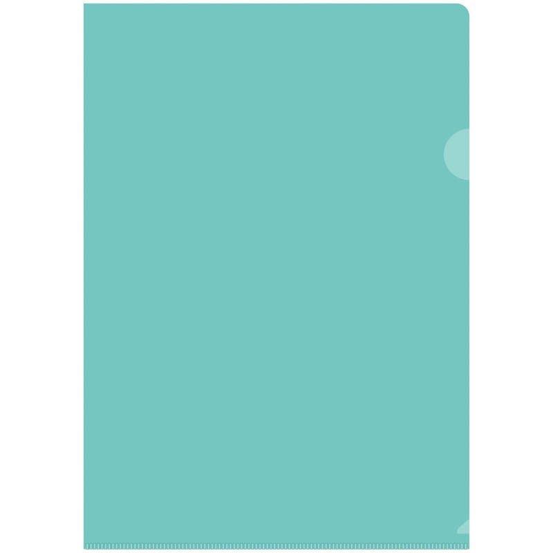 Папка-угол (карман) OfficeSpace 0,15мм прозрачная зеленая