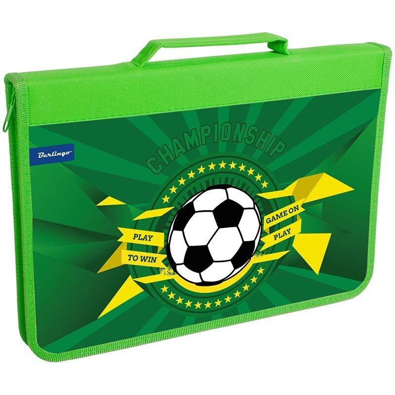 Папка для труда А4 1 отд на молнии Football картон
