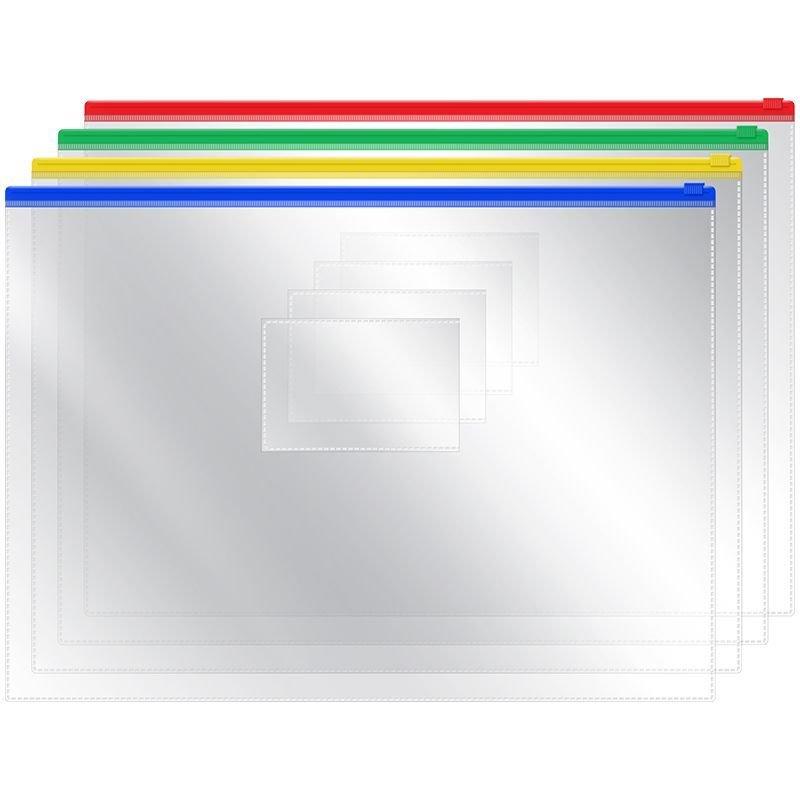 Папка-конверт на молнии А4 OfficeSpace 330*238 мм карман для визитки ассорти 120мкм