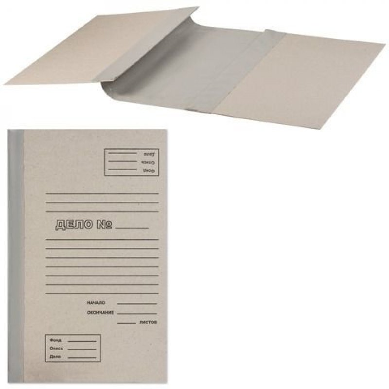 Папка архивная для переплета 100мм 1000л картон/бумвинил бурая 310х215х100мм