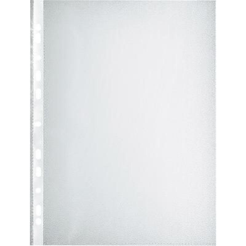 Папка-файл прозрачная с перфорацией А4 Workmate 100шт/уп 20мкм матовая