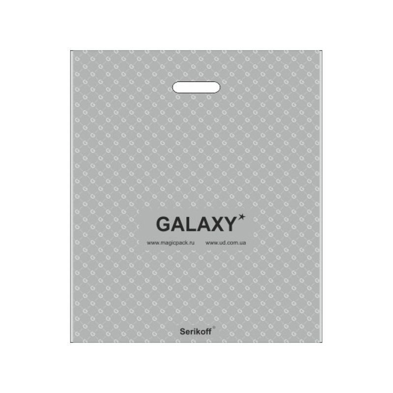 Пакет птл ручка 45х43см 100мкм Велюр Галактика