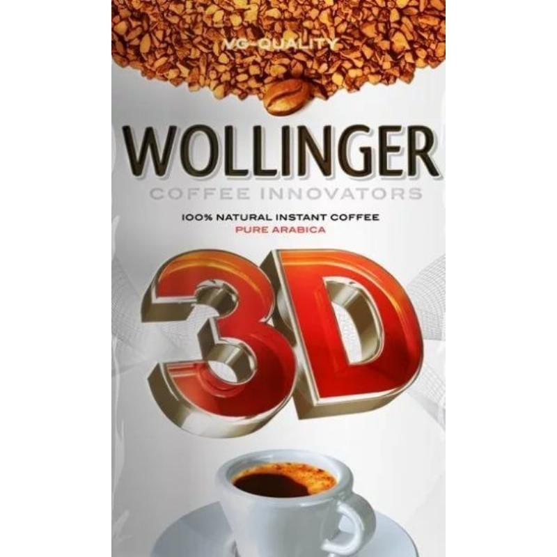 Кофе Wollinger 3D растворимый 95г мягкая упаковка
