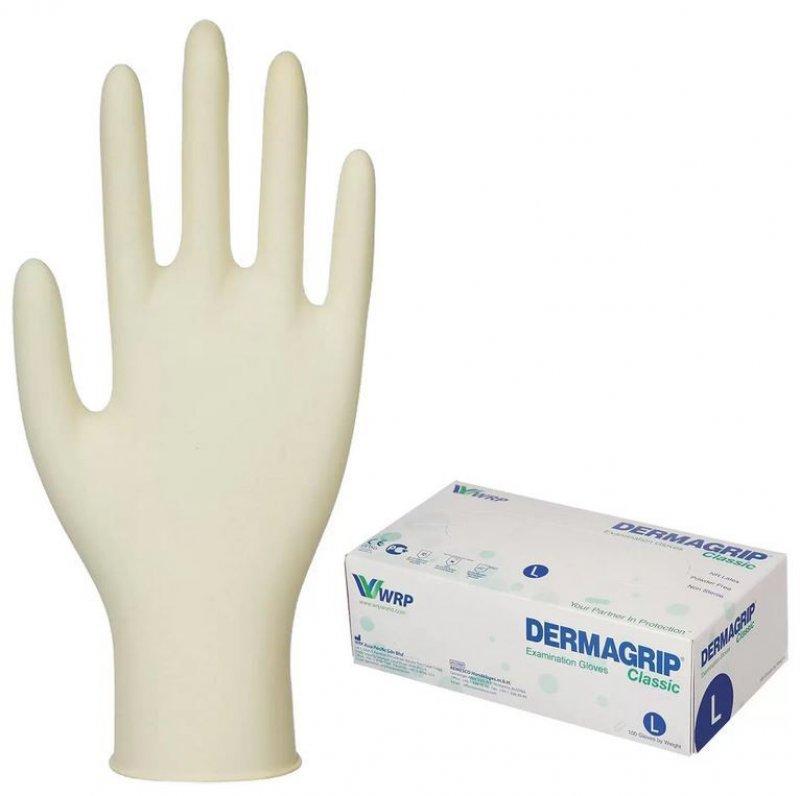 Перчатки латексные Dermagrip Classic L желтые 1 пара