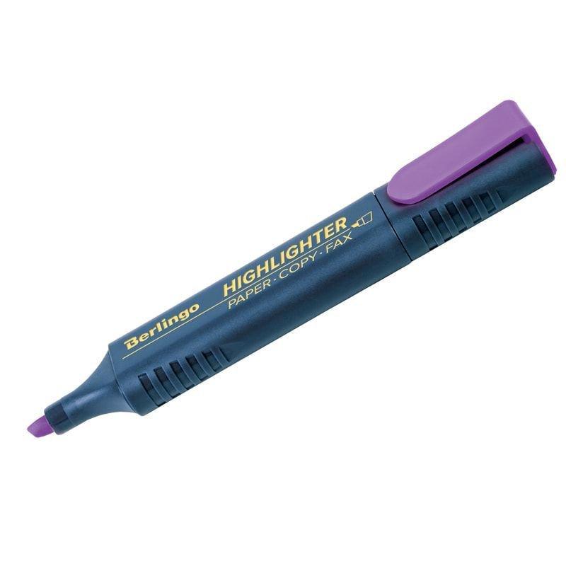 Текстмаркер Berlingo 1-5мм скошенный наконечник фиолетовый