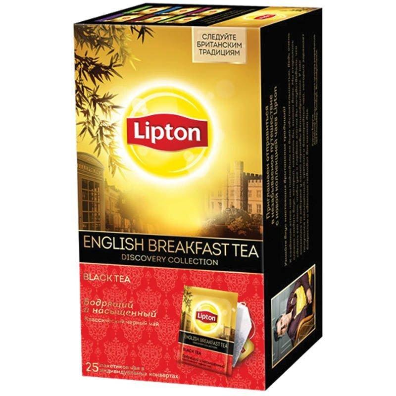 Чай Lipton English Breakfast 25шт в пакетиках черный