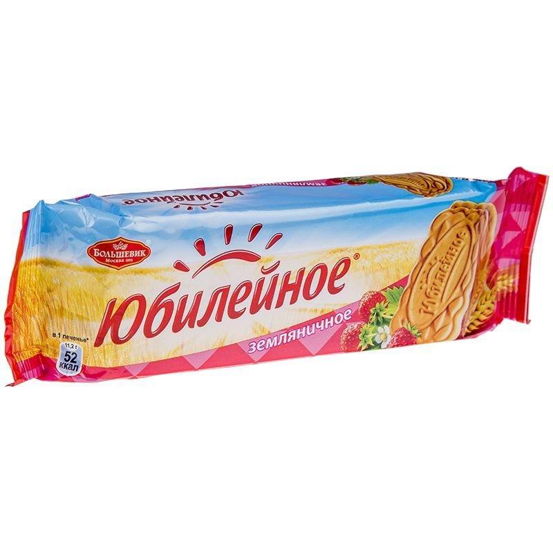 Печенье Юбилейное земляничное витаминизированное 112г