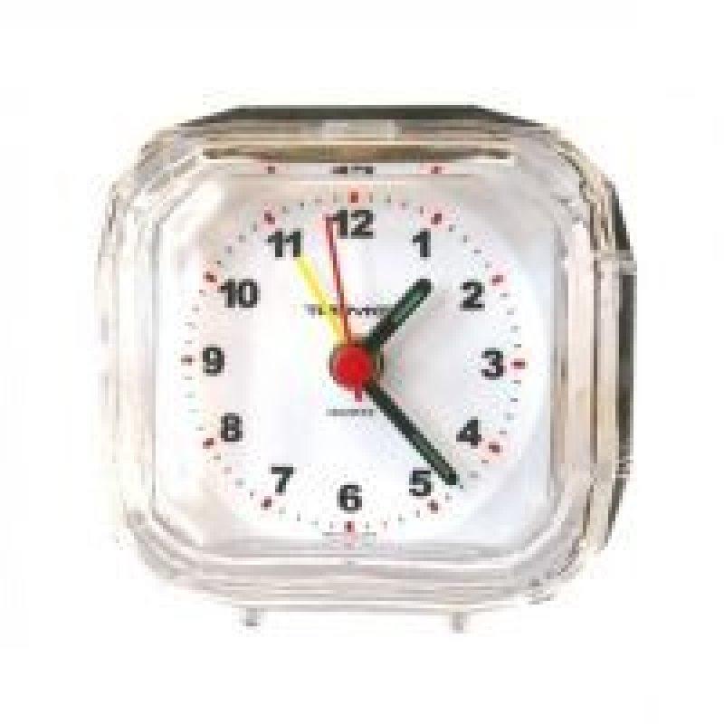 Часы-будильник В-Тройка квадрат прозрачные