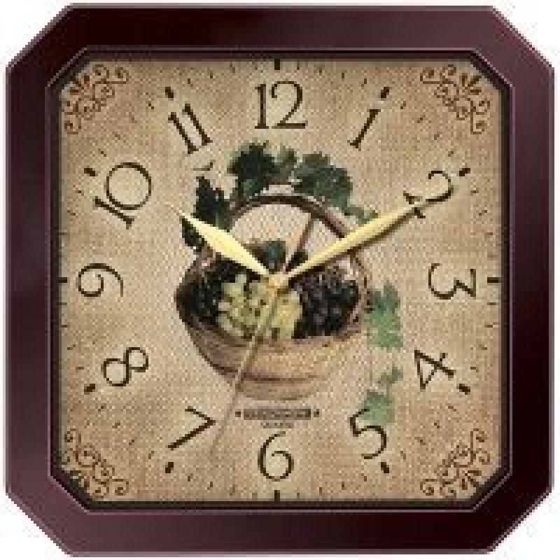 Часы настенные В-Тройка 31331311 квадрат виноград 290мм