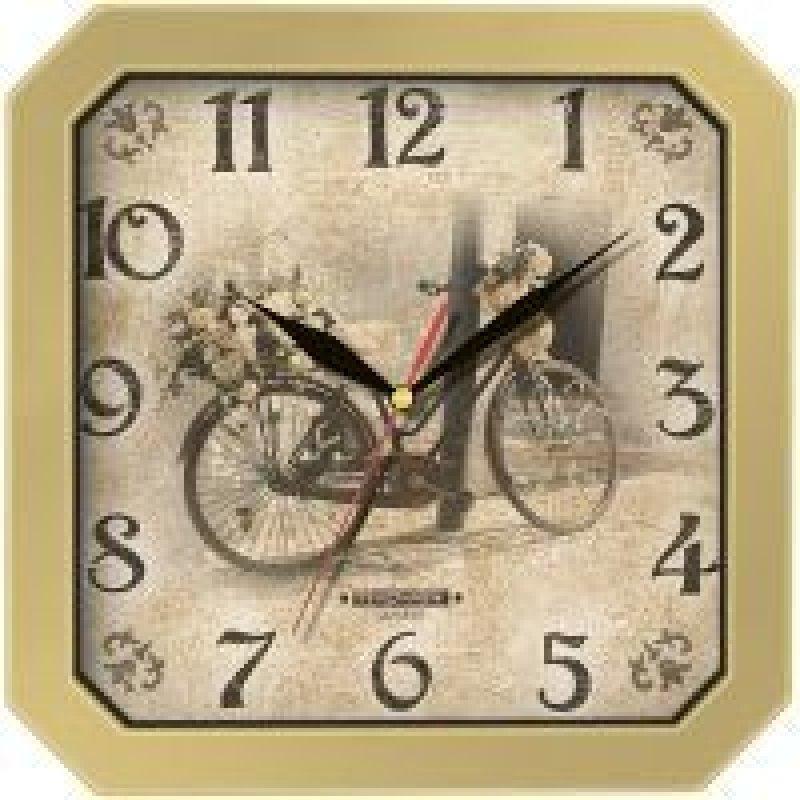 Часы настенные В-Тройка 31371310 квадрат велосипед 290мм