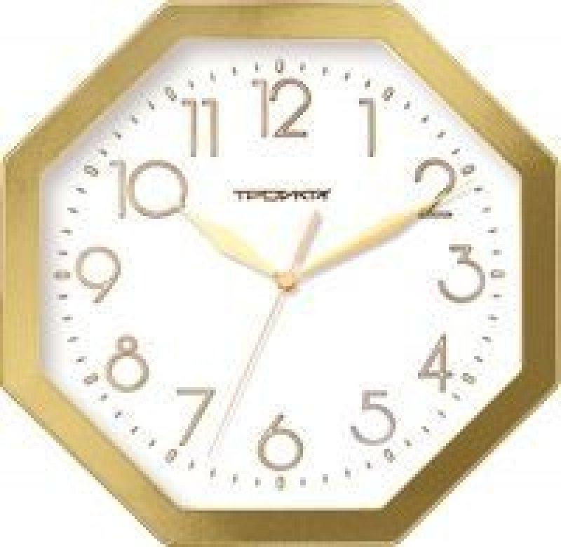 Часы настенные В-Тройка 41471483 восьмигранник белые 290мм
