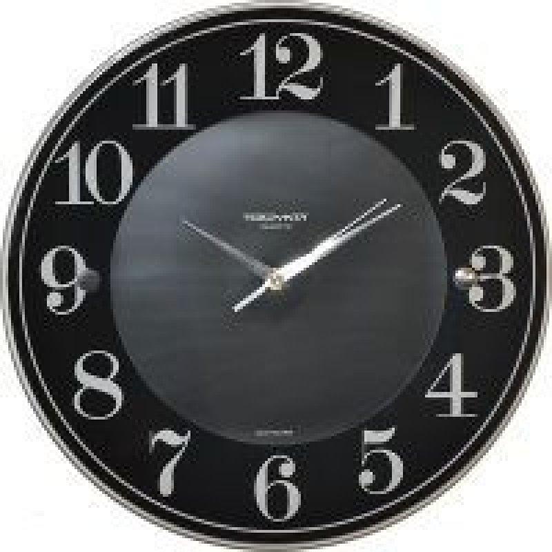Часы настенные В-Тройка 81000010 круг черные/серые 345мм