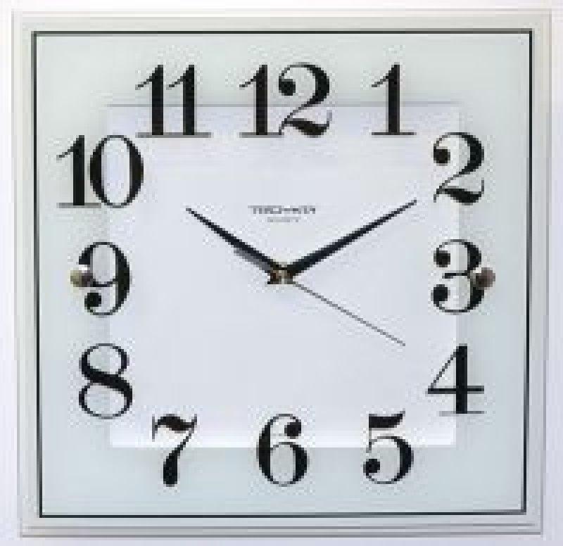 Часы настенные В-Тройка 81000033 квадрат белые 320мм