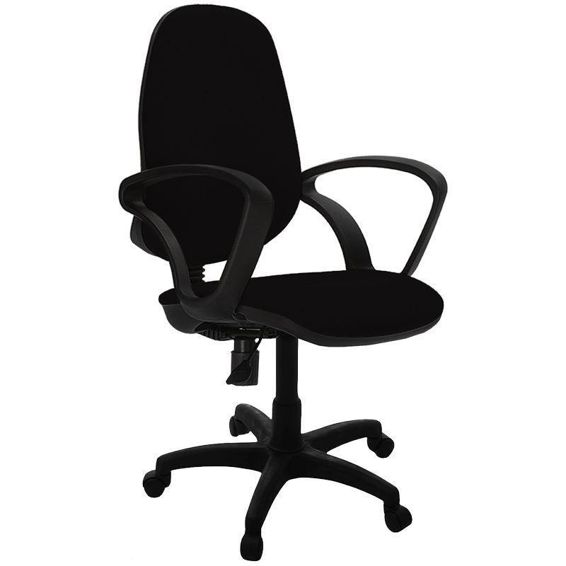 Кресло для оператора Фабрикант Комфорт с подлокотниками ткань черное
