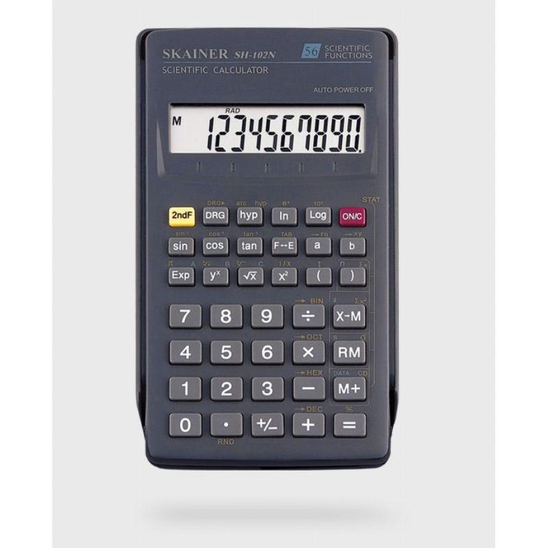 Калькулятор Skainer Electronic SH-101N 134х71мм 8+2 разр инженерный