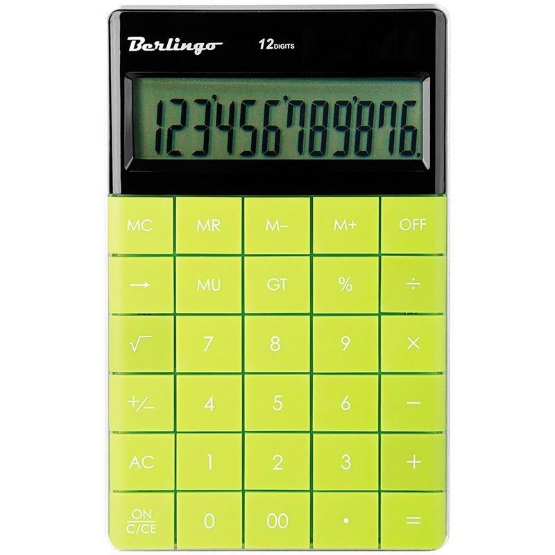 Калькулятор Berlingo CIG_100 165х105мм 12разр зелёный