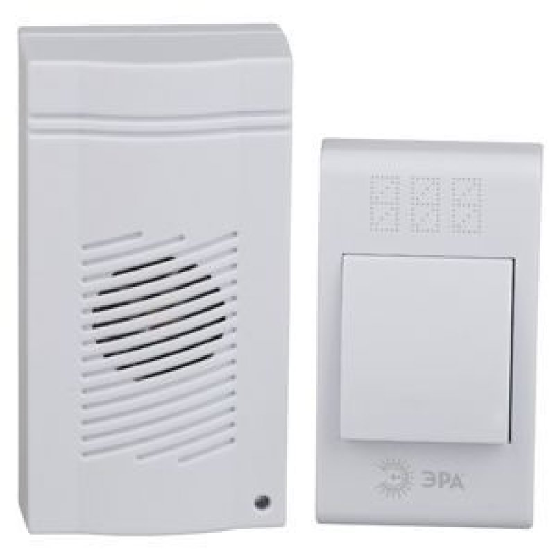 Звонок ЭРА С-51 дверной 32 мелодий 3*ААА беспроводной белый