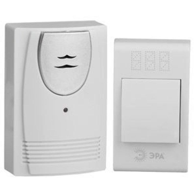 Звонок ЭРА С-61 дверной 32 мелодий 3*ААА беспроводной белый