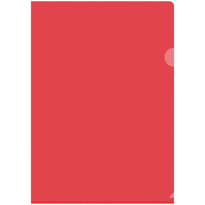 Папка-угол (карман) OfficeSpace 0,15мм прозрачная красная