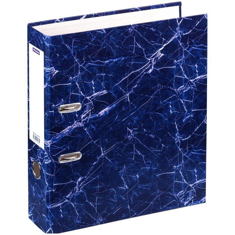 Папка-регистратор 70мм OfficeSpace мрамор синяя
