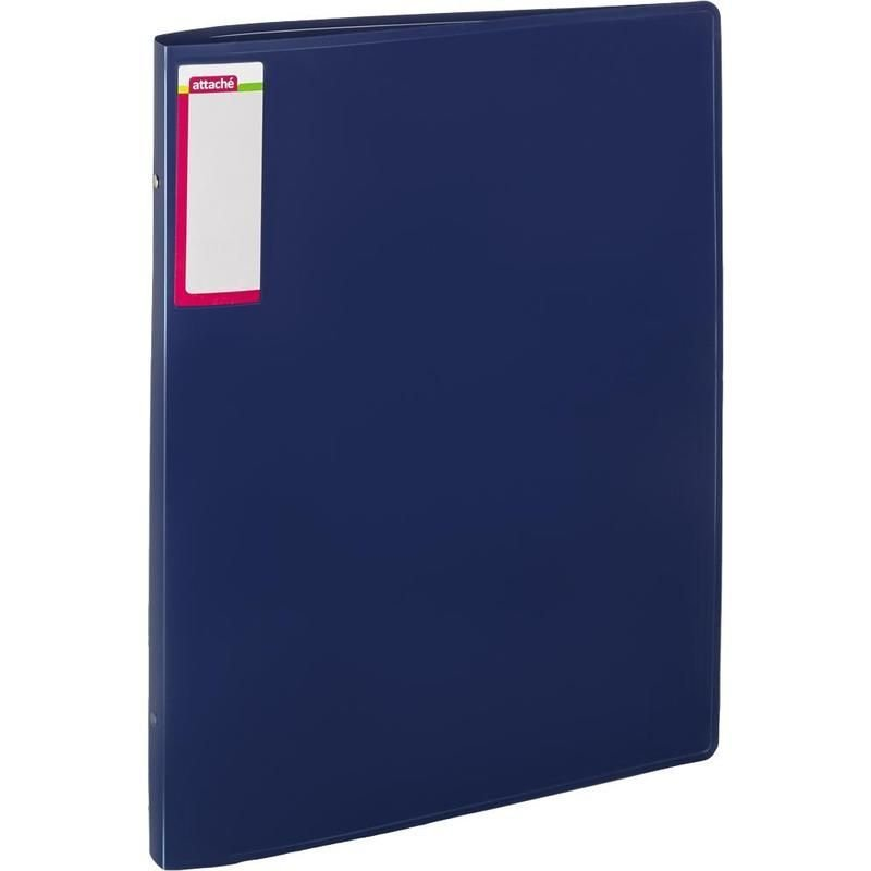 Папка А3 на 4-х кольцах 32мм Attache синий 0,7мм
