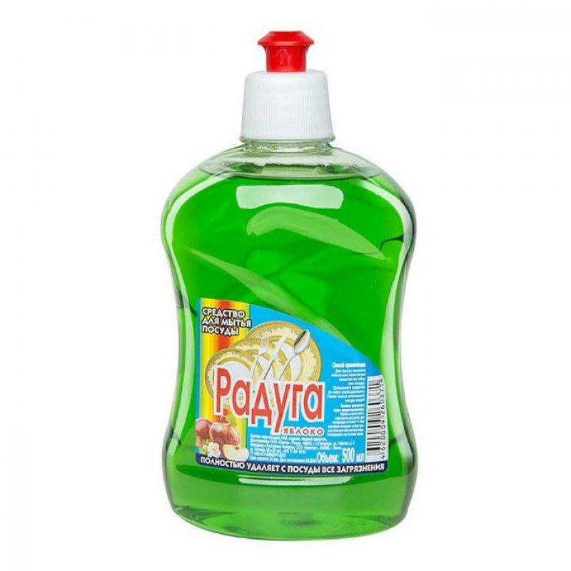 Средство для мытья посуды 500мл Радуга Яблоко/Апельсин/Лимон