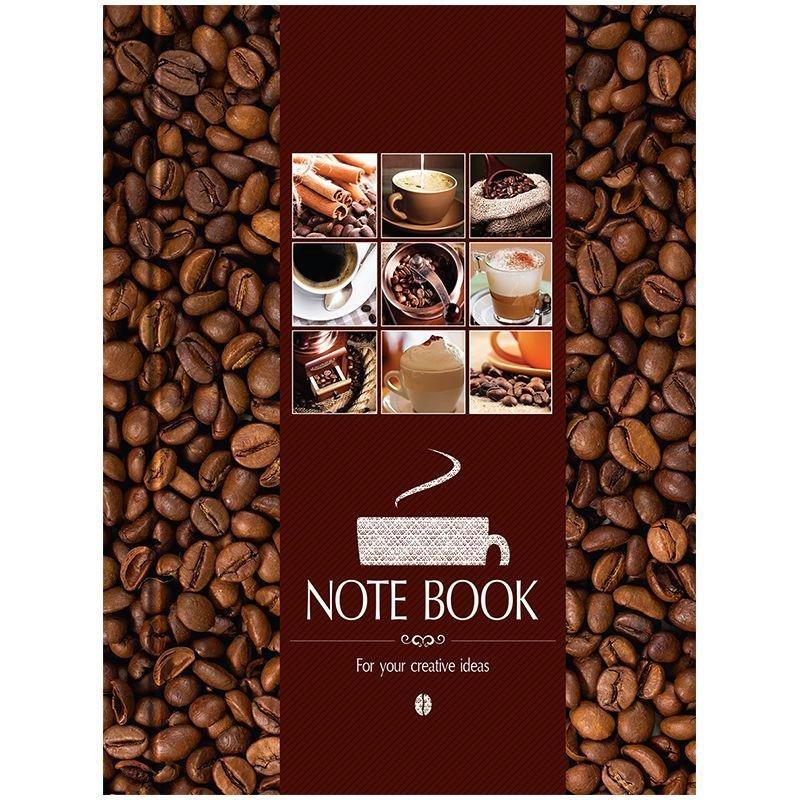 Записная книжка А6 80л Кофе твердая обложка