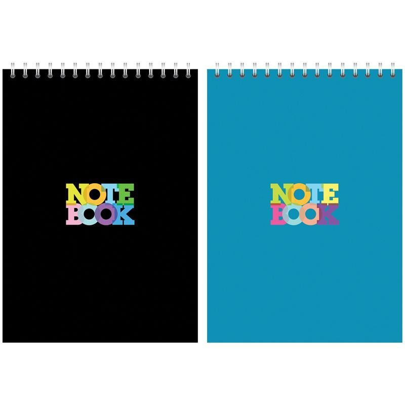 Блокнот А5 80л Моноколор Notebook гребень