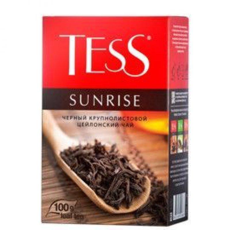 Чай Tess Sunrise 100г листовой черный