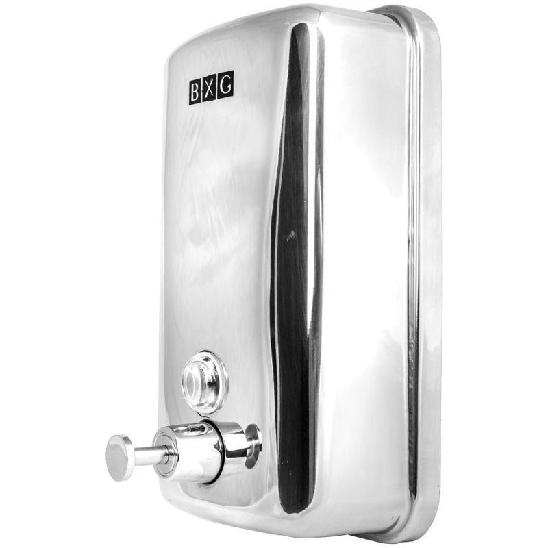 Диспенсер для жидкого мыла BXG 1л наливной нерж сталь