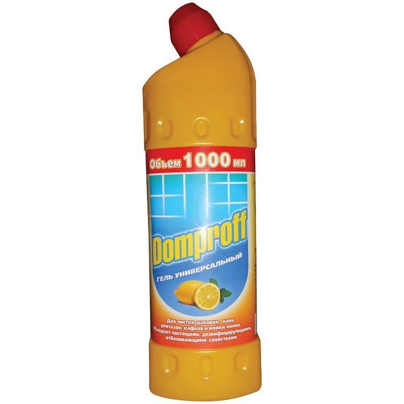 Чистящее средство для сантехники 1л гель лимон Domproff