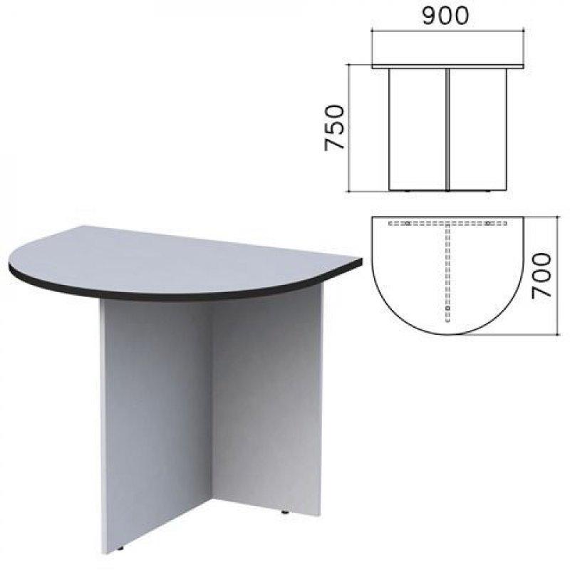 Стол приставной Монолит к столу для переговоров 900х700х750мм серый
