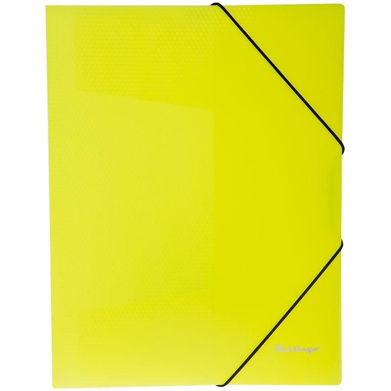 Папка на резинках Berlingo Neon А4 0,5мм желтая