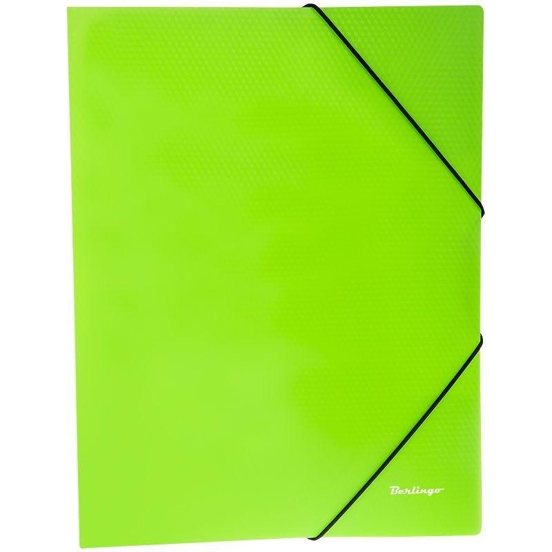 Папка на резинках Berlingo Neon А4 0,5мм зеленая