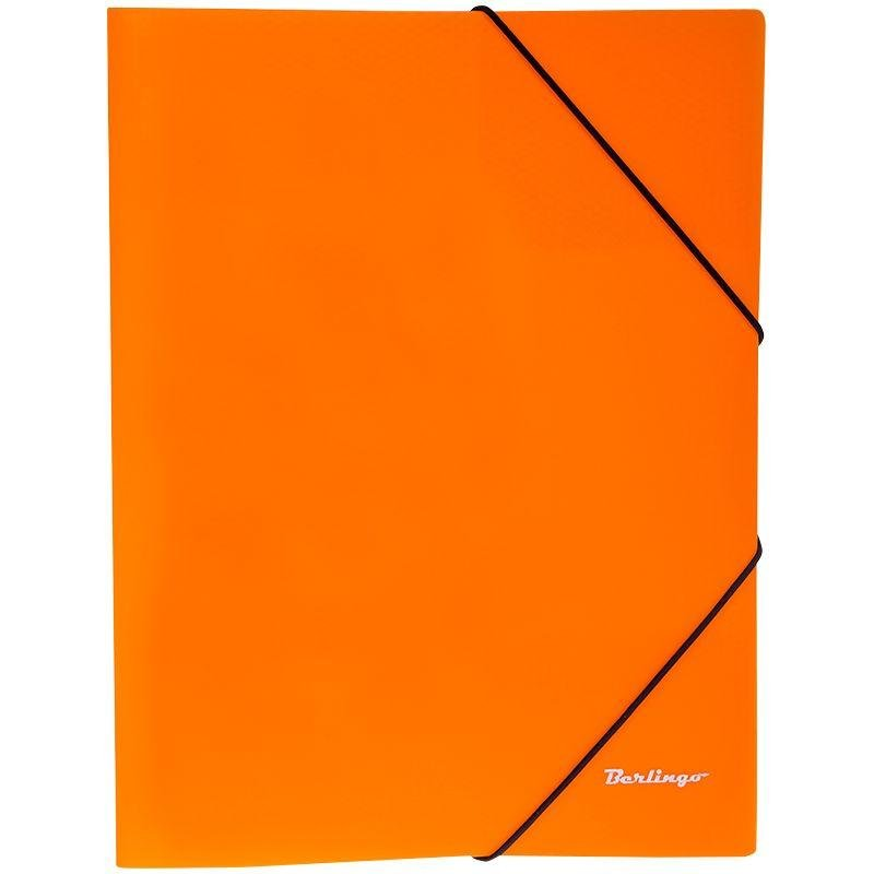 Папка на резинках Berlingo Neon А4 0,5мм оранжевая
