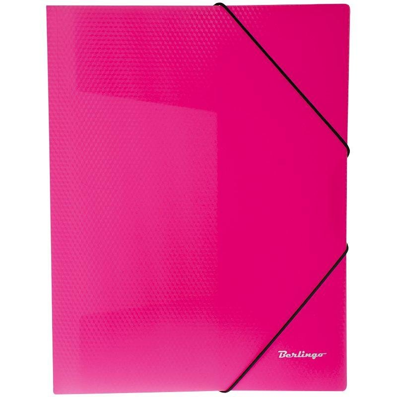 Папка на резинках Berlingo Neon А4 0,5мм розовая