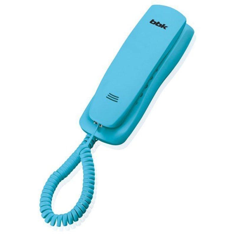 Телефон BBK BKT-105 RU голубой тональный/импульсный режим
