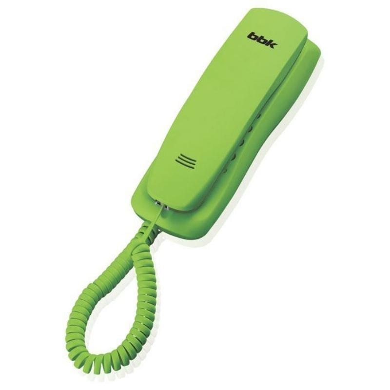 Телефон BBK BKT-105 RU зеленый тональный/импульсный режим