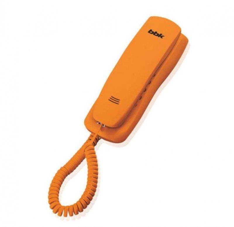 Телефон BBK BKT-105 RU оранжевый тональный/импульсный режим