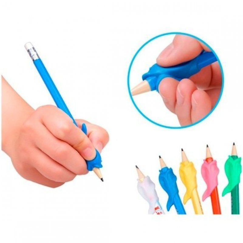 Тренажер для письма Рыбка насадка на ручку или карандаш 3шт/уп