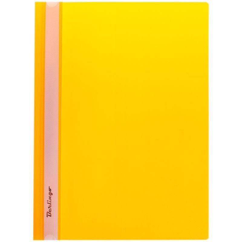 Папка с прозрачным верхним листом Berlingo 180мкм желтая
