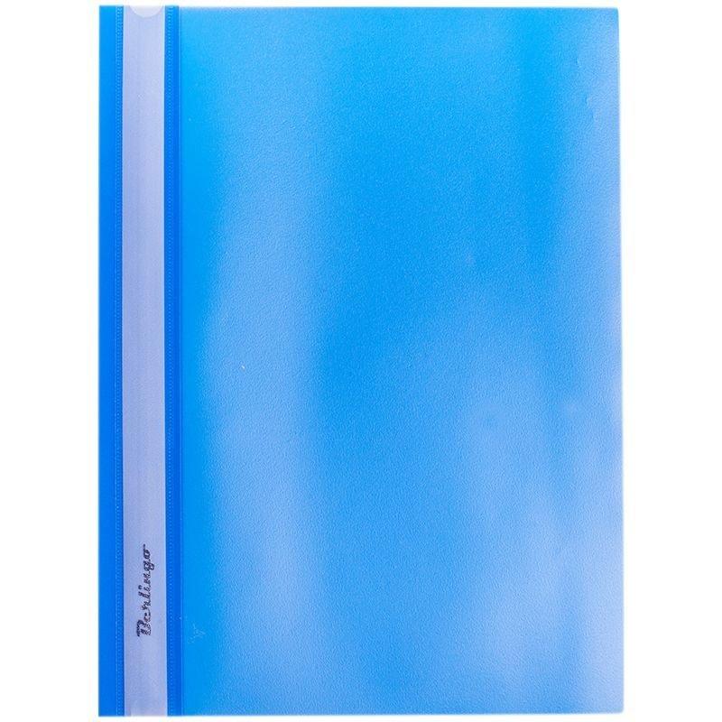 Папка с прозрачным верхним листом Berlingo 180мкм синяя