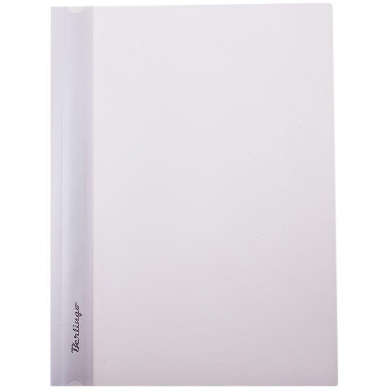 Папка с прозрачным верхним листом Berlingo 180мкм белая