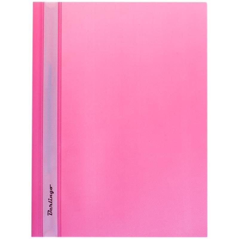 Папка с прозрачным верхним листом Berlingo 180мкм розовая