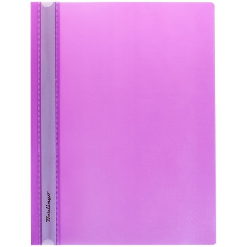 Папка с прозрачным верхним листом Berlingo 180мкм фиолетовая