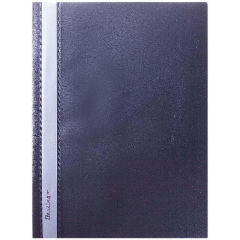Папка с прозрачным верхним листом Berlingo 180мкм черная