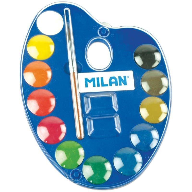 Краски акварельные 12цв Milan с кист
