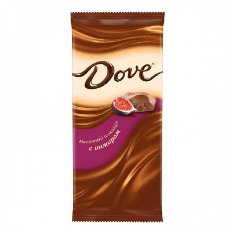 Шоколад Dove молочный с инжиром 90г